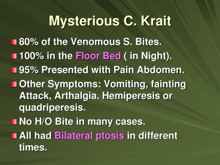 Mysterious C. Krait