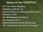 status of the hospital