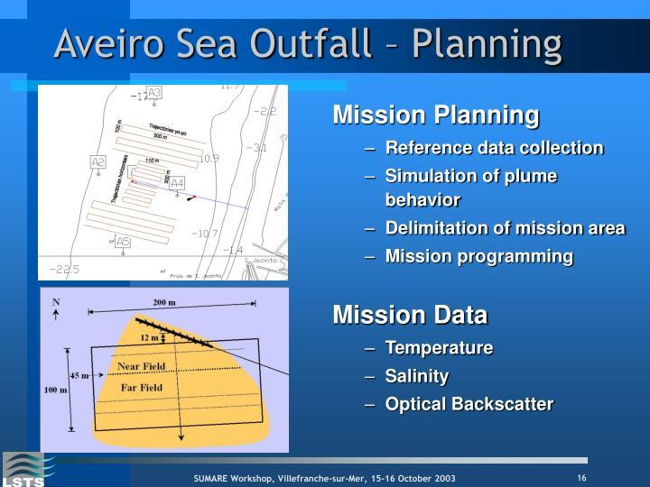 Aveiro Sea Outfall – Planning