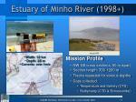 estuary of minho river 1998