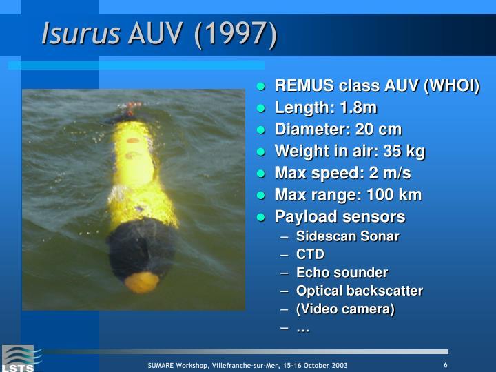 REMUS class AUV (WHOI)