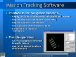 mission tracking software