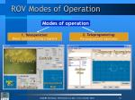 rov modes of operation
