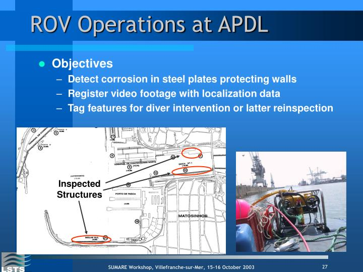 ROV Operations at APDL