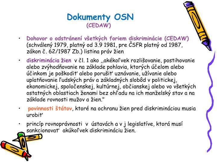 Dokumenty OSN