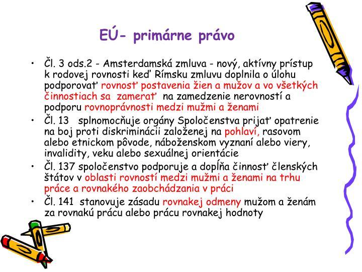 EÚ- primárne právo