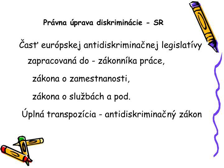 Právna úprava diskriminácie - SR