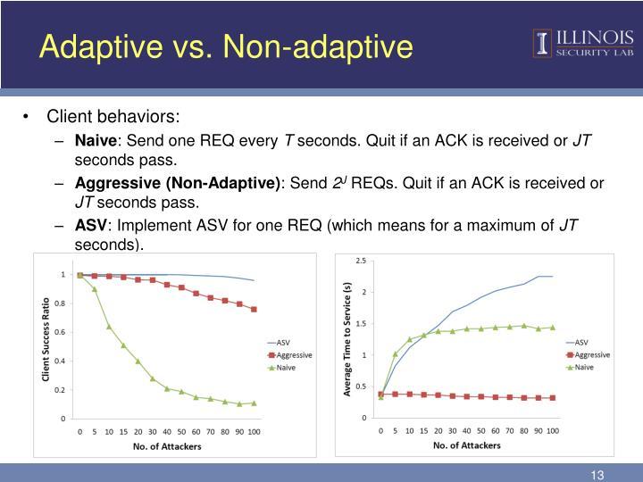 Adaptive vs. Non-adaptive