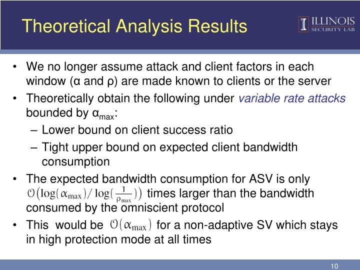 Theoretical Analysis Results