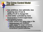 the crime control model 1970s 2000