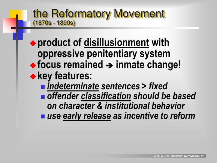 the Reformatory Movement