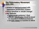 the reformatory movement 1870s 1890s