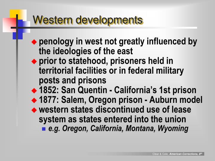 Western developments