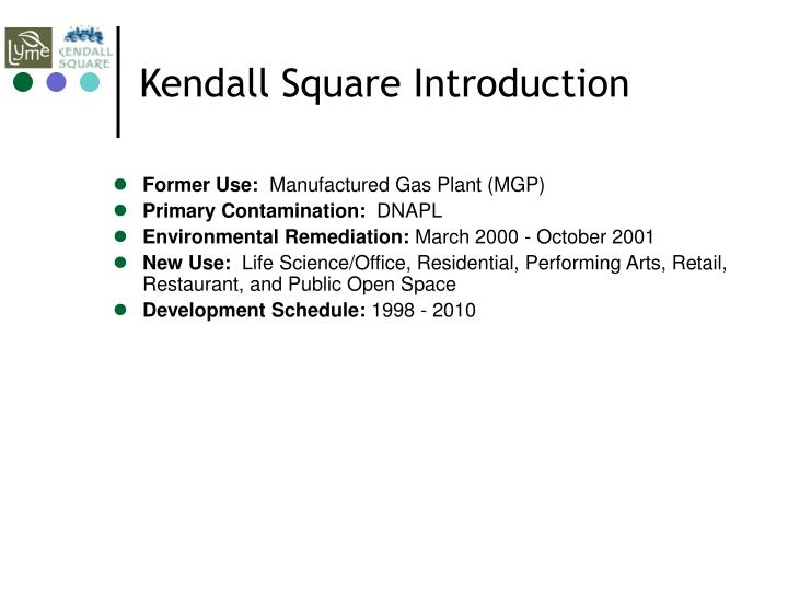 Kendall Square Introduction