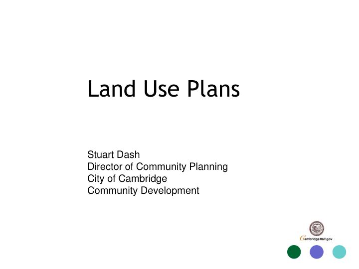 Land use plans