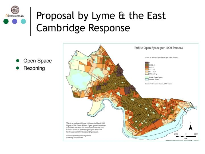 Proposal by Lyme & the East Cambridge Response