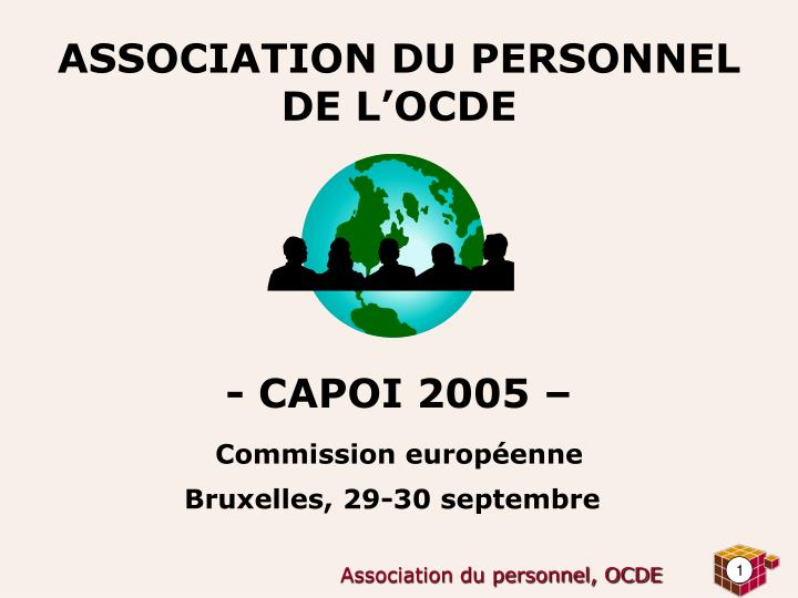 Association du personnel de l ocde capoi 2005 commission europ enne bruxelles 29 30 septembre