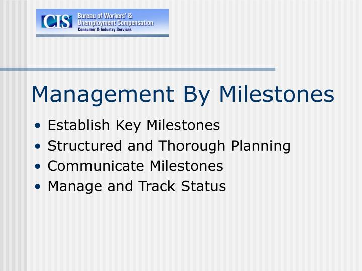Management By Milestones