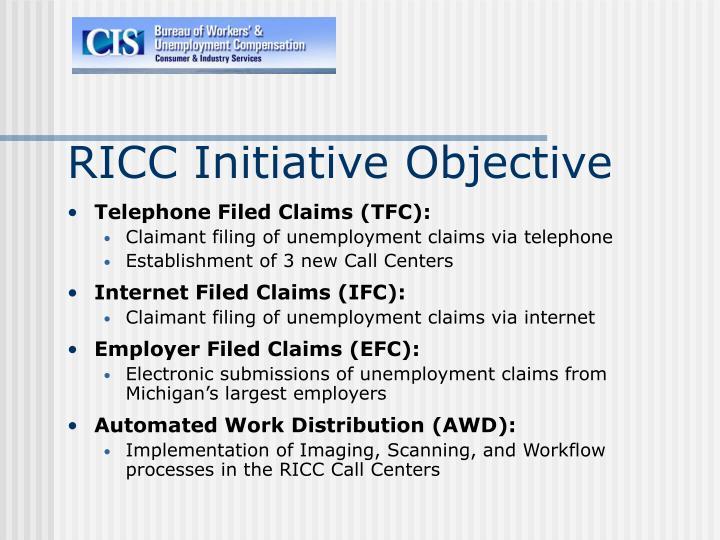 RICC Initiative Objective
