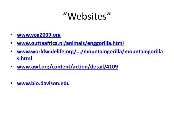 """""""Websites"""""""