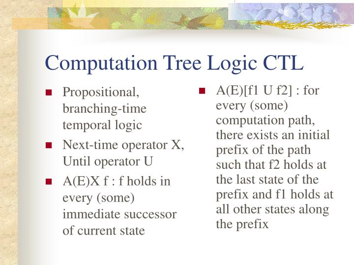 Computation tree logic ctl