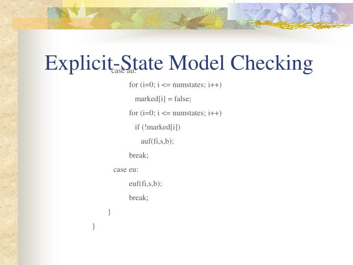 Explicit-State Model Checking