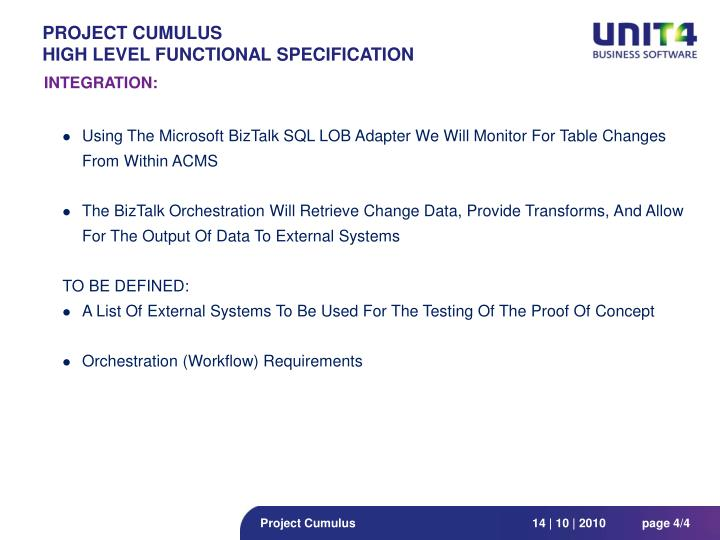 Project CUMULUS