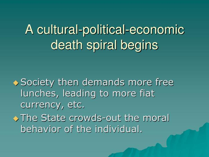 A cultural-political-economic death spiral begins