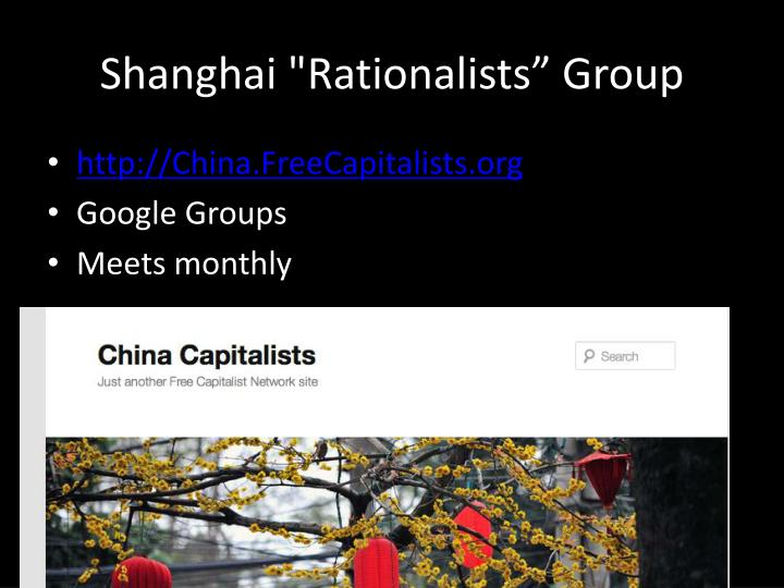 Shanghai rationalists group