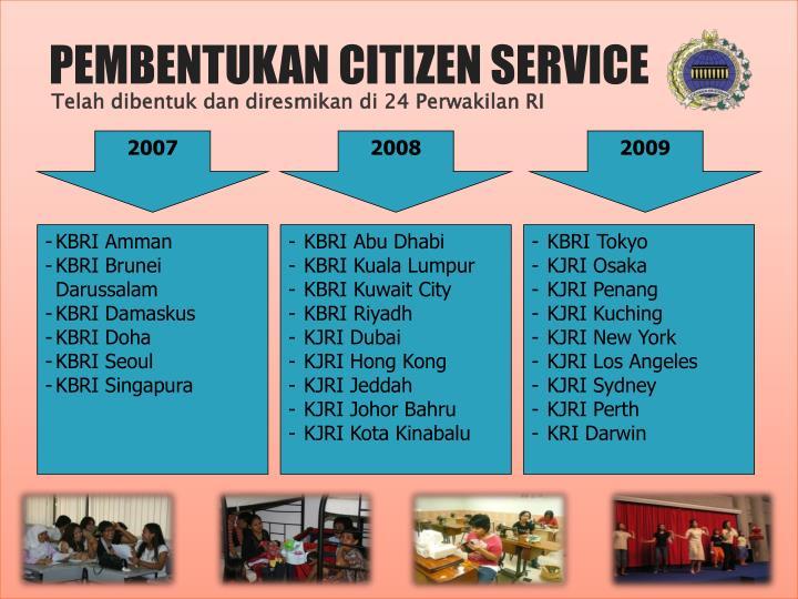 PEMBENTUKAN CITIZEN SERVICE