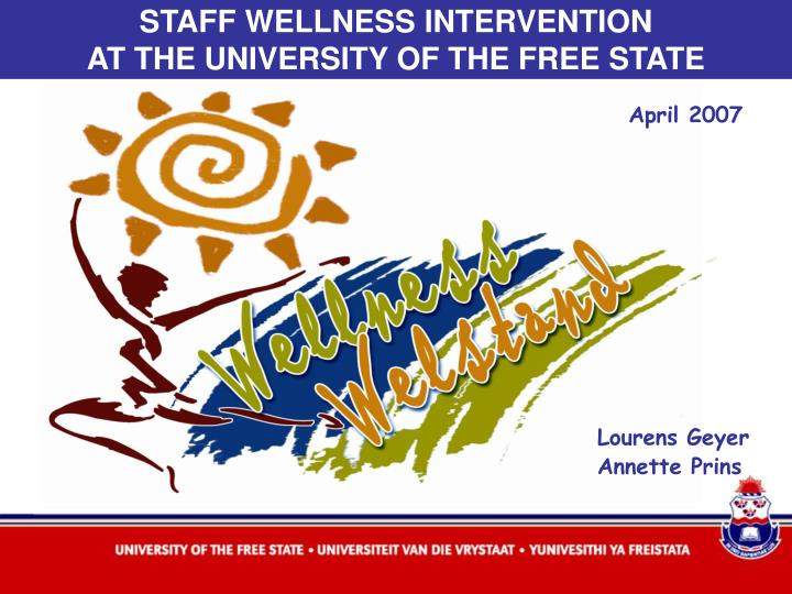 STAFF WELLNESS INTERVENTION