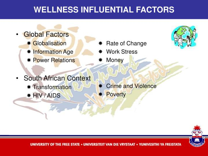 WELLNESS INFLUENTIAL FACTORS