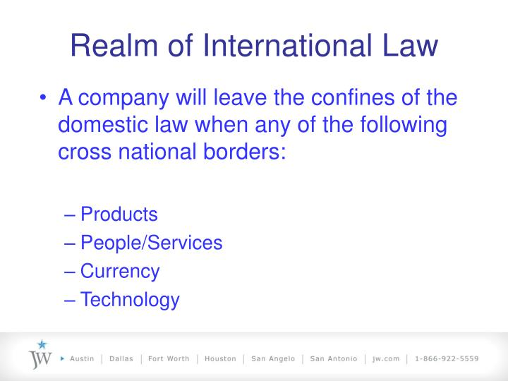 Realm of International Law