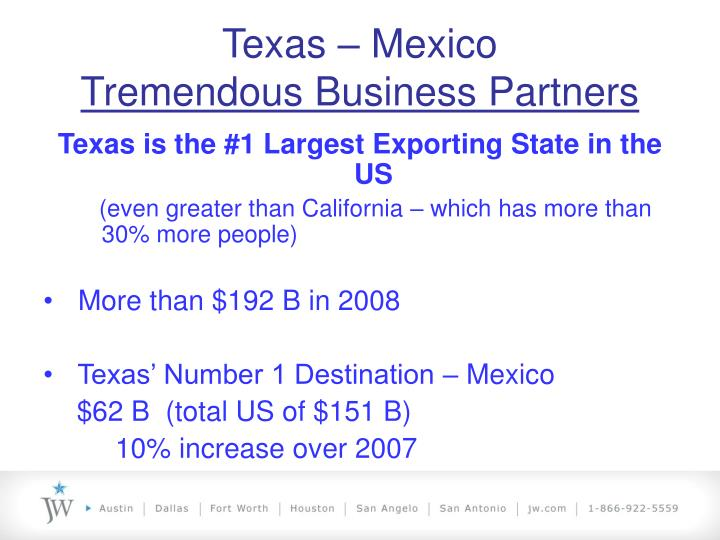 Texas mexico tremendous business partners