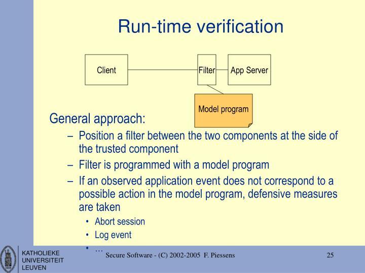 Run-time verification