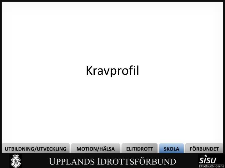 Kravprofil