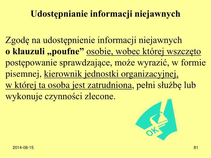Udostpnianie informacji niejawnych