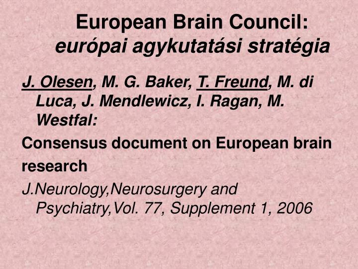 European Brain Council: