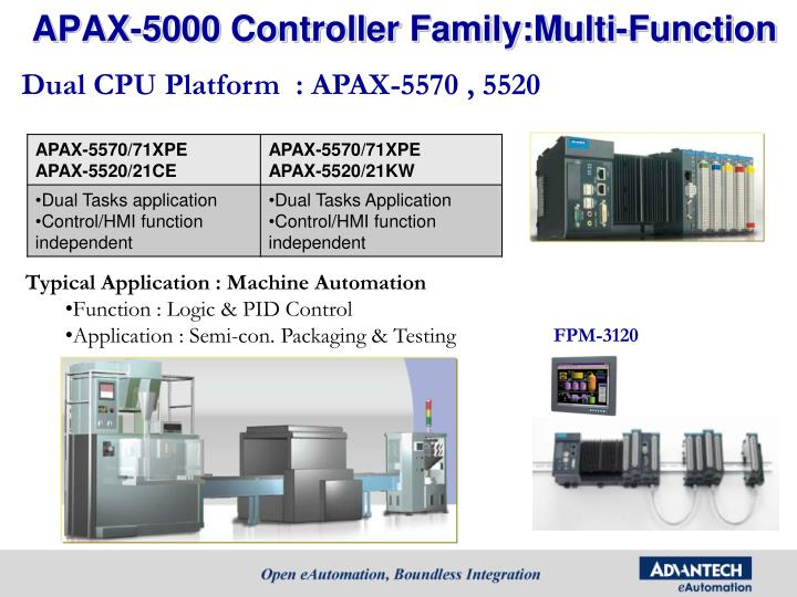 APAX-5000 Controller Family:Multi-Function