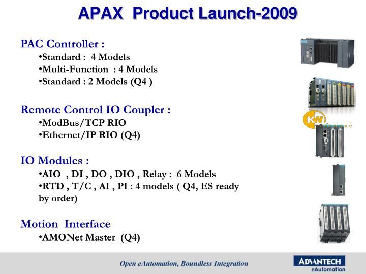 APAX  Product Launch-2009