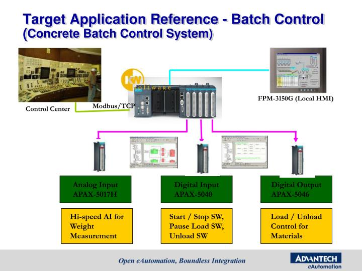 Target Application Reference - Batch Control