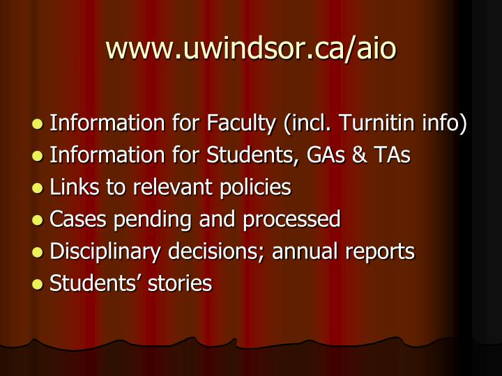 www.uwindsor.ca/aio