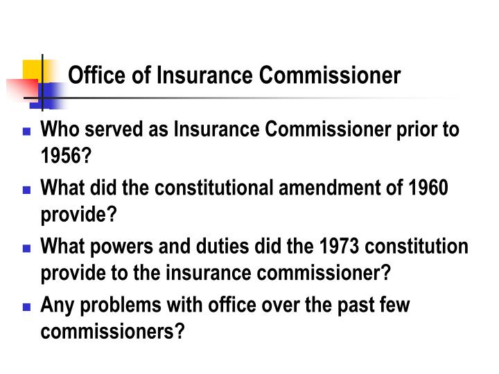Office of insurance commissioner