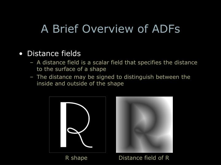 A Brief Overview of ADFs