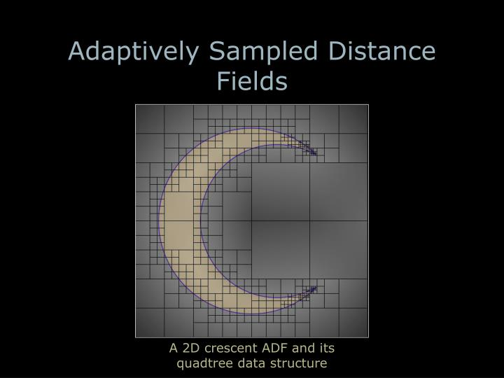 Adaptively Sampled Distance Fields
