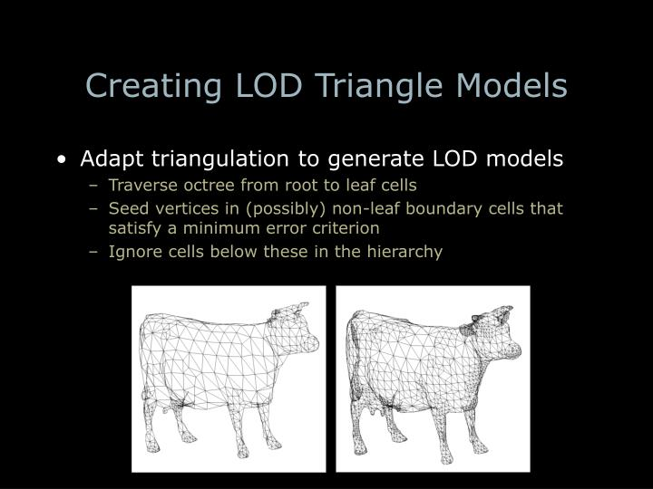 Creating LOD Triangle Models