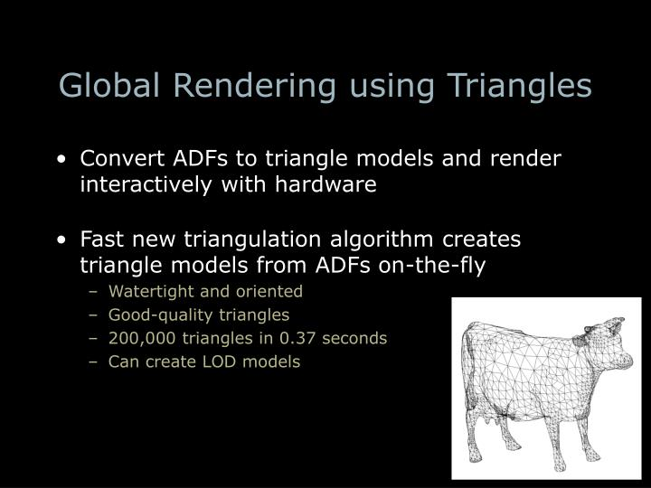 Global Rendering using Triangles