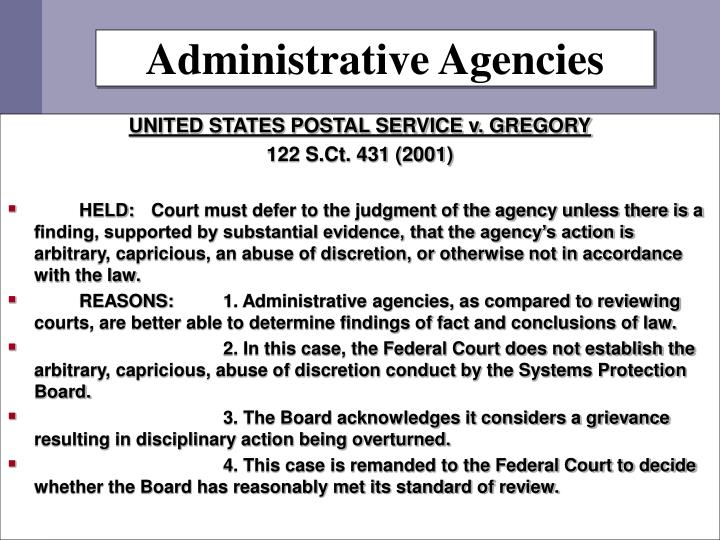 Administrative Agencies