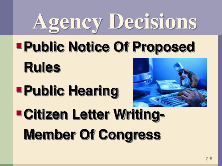 Agency Decisions