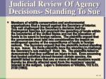 judicial review of agency decisions standing to sue1